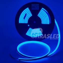 Rollo de Neón Flex LED 24V 14,5W IP65 Alta Potencia Luz Azul encendido