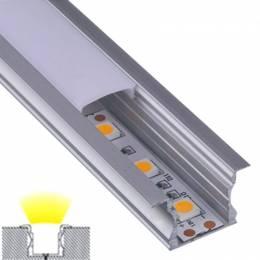 Perfil Aluminio Empotrar Alto