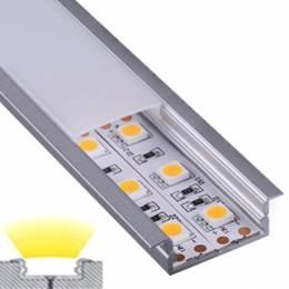 Perfil Aluminio Empotrar Ancho