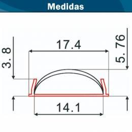 Perfil Aluminio Flexible Doblable