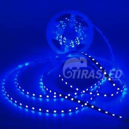 TIRA LED 12V 14,4W 60 LEDs/M 5050 LUZ AZUL rollo encendido y desplegado