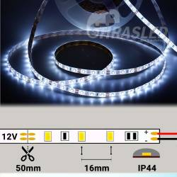 Metro tira LED 4,8W/m 12V 60 LEDs/M 3528 Luz Blanca Siliconada rollo encendido con medidas