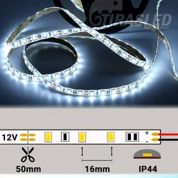 Tira de LED 12V 14,4W/m IP44 Luz Blanca 6000K rollo encendido con medidas de corte