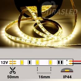 Tira de LED 12V 14,4W/m IP44 Luz Neutra 4000K con rollo encendido