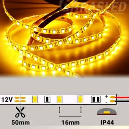 Tira de LED 12V 14,4W/m IP44 Luz Cálida 3000K encendida en rollo con medidas de corte