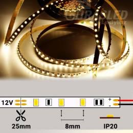 Tira LED 12V 9,6W 120 LEDs/m 3528 4000K