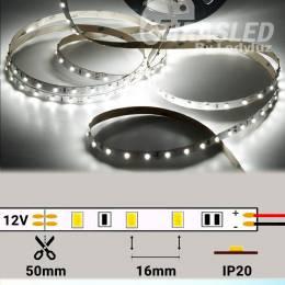Tira de LED 12V 4,8W/m IP20  Luz Blanca 6000K encendida y abierta