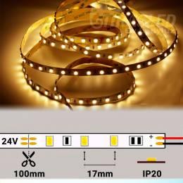 Rollo de Tira LED 24V 14,4W 60 LEDs/m 5050 2700K encendido