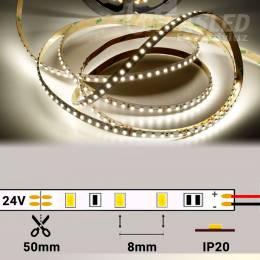 Rollo de Tira LED 24V 9,6W 120 LEDs/m 3528 4000K encendida