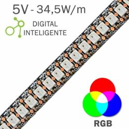 Tira LED Digital 5V 34,5W...