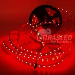 Rollo de Tira LED 24V 14,4W IP20 RGB Cambio Color . muestra encendida de color rojo