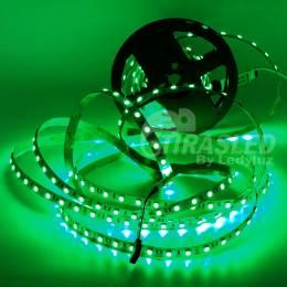 Rollo de Tira LED 24V 14,4W IP20 RGB Cambio Color . muestra encendida de color verde