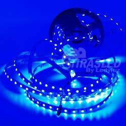 Rollo de Tira LED 24V 14,4W IP20 RGB Cambio Color . muestra encendida de color azul