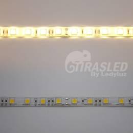 2 Muestras de Tira LED 24V 14,4W 60 LEDs/m 5050 IP44 3000K encendido y apagado
