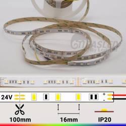 Rollo de Tira LED 24V 22W IP20 RGB + 3000K a 6000K con medidas de corte
