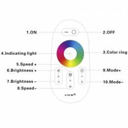 Controlador LED RGBw 6A Por...