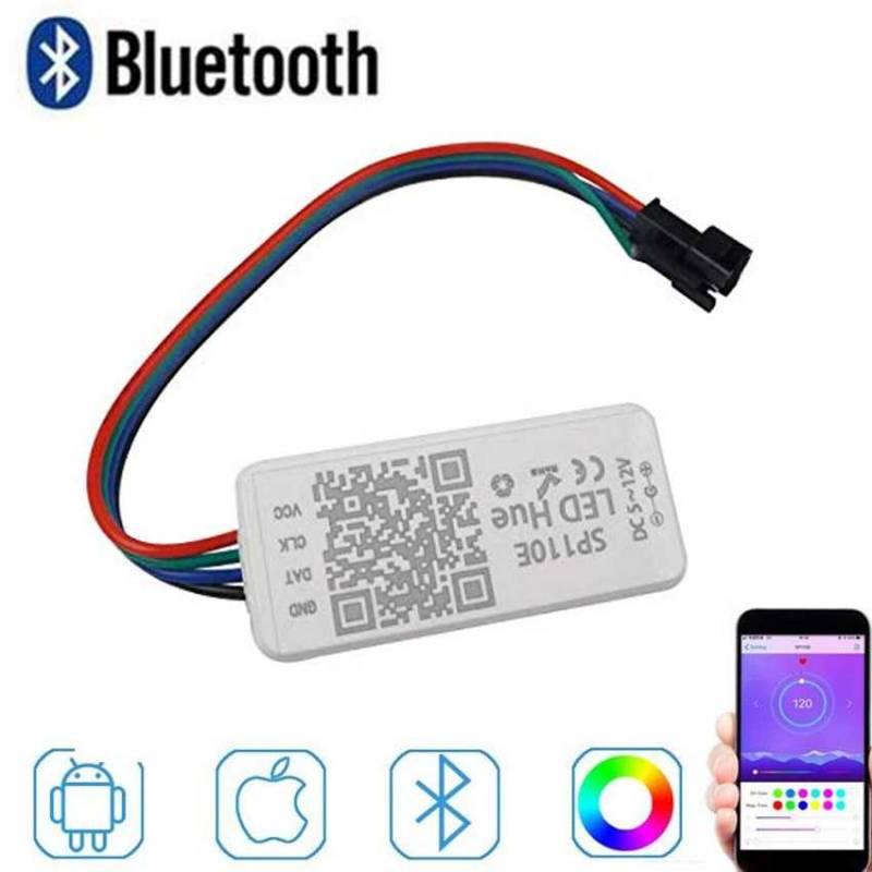Imagen de controlador de tiras y neón LED digital por medio de bluetooth y app móvil