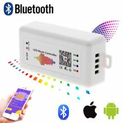 Imagen de controlador led pixel por musica de app via smartphone y bluetooth