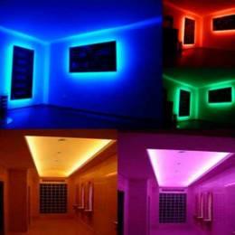 Ejemplo iluminación interiorismo con Tira LED 12V 5050 IP20 con 60 Leds x metro IP20 digital pixel RGB