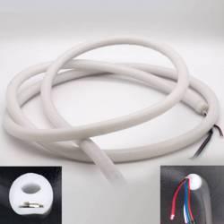 Neón LED efecto 360º flexible tubo 20mm 12V apagado con corte y terminación de cables