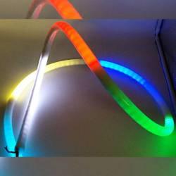Neón LED efecto 360º flexible tubo 20mm 12V encendido arco iris