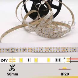 foto de TIRA LED DOBLE 24V 19,2W 240 LEDs/M 3528 3000 cálida apagada con datos técnicos