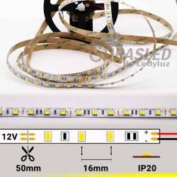 FOTO TIRA LED 12V 14,4W 60 LEDs/M 5050 LUZ AMARILLO LIMÓN apagada con datos técnicos