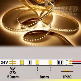 Rollo de Tira LED 24V 9,6W 120 LEDs/m 3528 2700K encendida