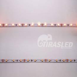 Tira de LED 12V 4,8W/m IP20 Luz Cálida 3000K encendida y apagada