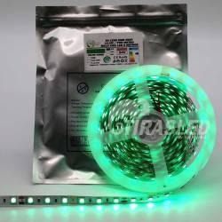 Tira LED 12V 14,4W IP20 Luz Verde en rollo y encendido