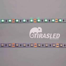 Tira LED 12V 14,4W IP20 Luz Verde PCB apagado y encendido