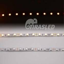TIRA LED 12V 14,4W 60 LEDs/M 5050 LUZ Ambar - Amarillo, 3 PCB encendido y apagado