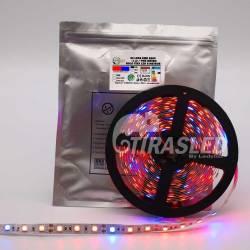 TIRA LED 12V 14,4W 60 LEDs/M 5050 GROW LIGHT rollo encendido