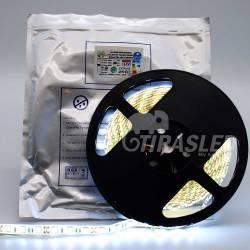 Tira de LED 12V 14,4W/m IP44 Luz Blanca 6000K rollo encendido