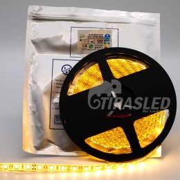 Tira de LED 12V 14,4W/m IP44 Luz Cálida 3000K encendida en rollo y con bolsa