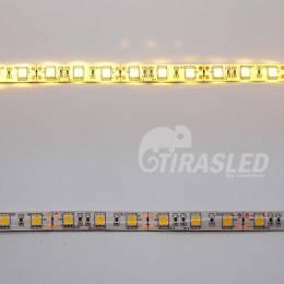 Tira de LED 12V 14,4W/m IP44 Luz Cálida 3000K 2 PCB encendido y apagado