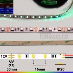 Tira LED 12V 14,4W  IP20 RGB Cambio Color