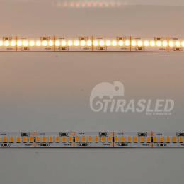 Tira LED 24V 19W IP20 Luz Cálida 3000K CRI90.2 muestras encendido y apagado