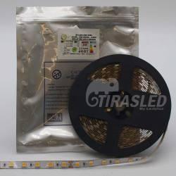 Rollo de Tira LED 24V 14,4W 60 LEDs/m 5050 2700K apagados y con bolsa