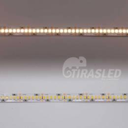 Tira LED 24V 19W IP20 Luz Neutra 4000K CRI90 encendido y apagado en 2 muestras