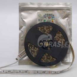 Rollo de Tira LED 24V 14,4W IP20 RGB Cambio Color con su bolsa.