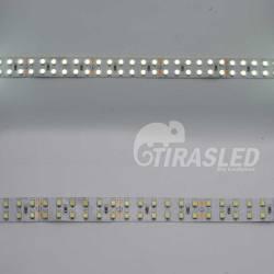 2 muestras de Tira LED Doble 24V 19,2W IP20 Luz Blanca 6000K una encendida y otra apagada