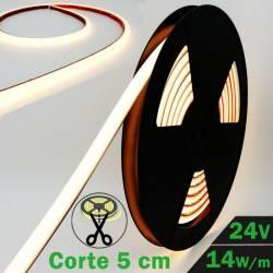 Rollo de Neón Flex LED 24V 14,5W IP65 Alta Potencia 3000K con datos técnicos