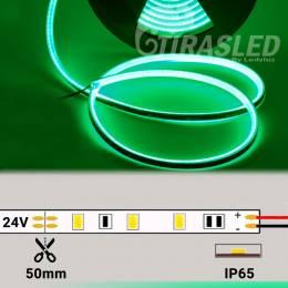 Neón Flex LED 24V 14,5W IP65 Alta Potencia Luz Verde encendido y desenrollado