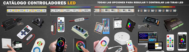 Controladores LED para conectar y configurar tus tiras de LED, para cualquier color o cofiguración y poder adpatarla a tu instalación